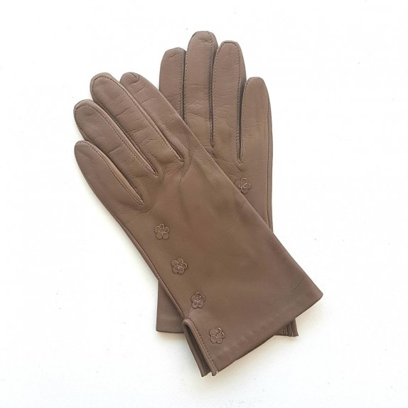 """Leather Gloves of lamb sand """"CAMPANULE"""""""