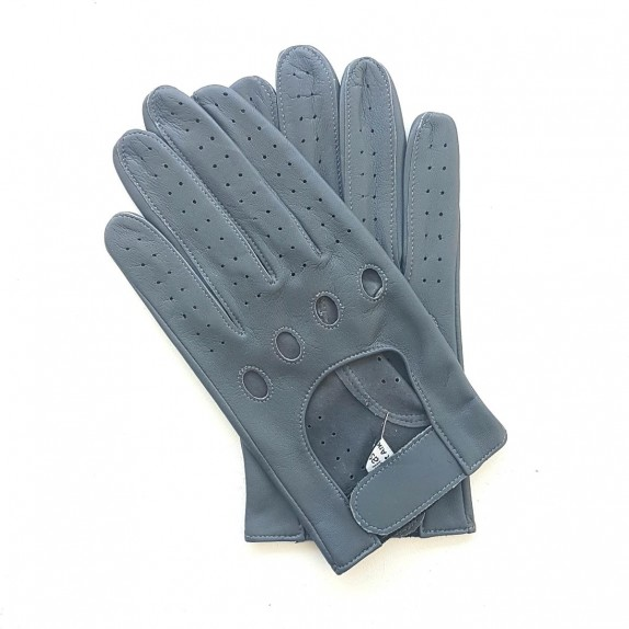 "Leather gloves of lamb grey ""AYRTON""."