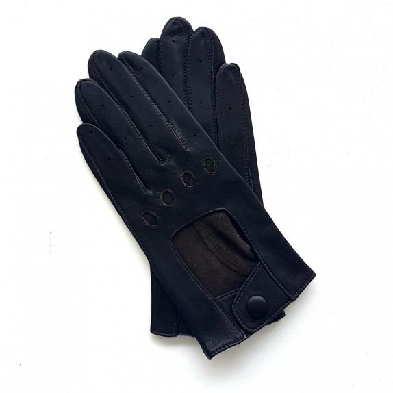 """Leather gloves of lamb brown """"AUDREY""""."""