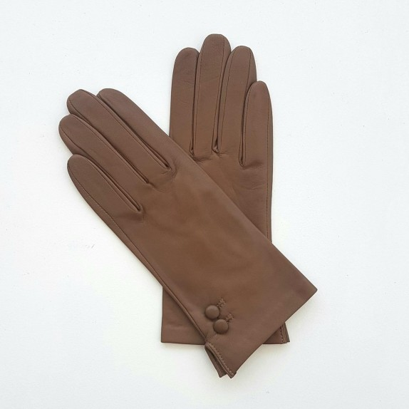 """Leather gloves of lamb sand """"CLEMENTINE""""."""