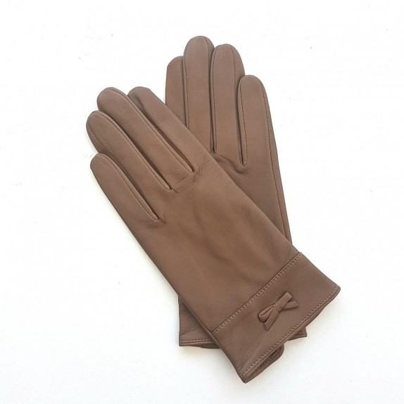 "Leather gloves of lamb sand ""ANEMONE"""