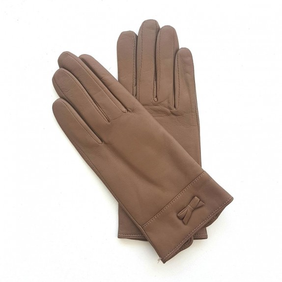 "Leather gloves of lamb clay ""ANEMONE"""