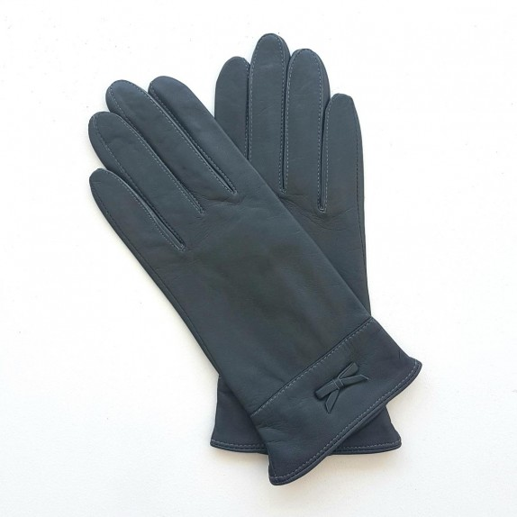 """Leather gloves of lamb grey """"ANEMONE"""""""