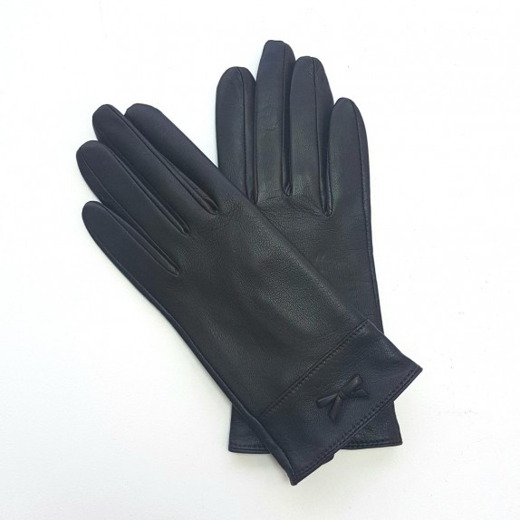 "Leather gloves of lamb brown ""ANEMONE"""