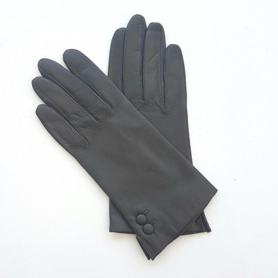 "Leather gloves of lamb brown ""CLEMENTINE""."