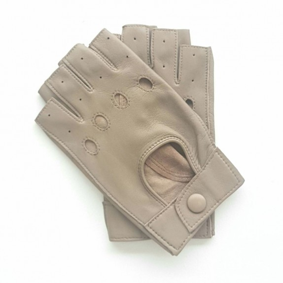 "Leather mittens of lamb putty ""PILOTE""."
