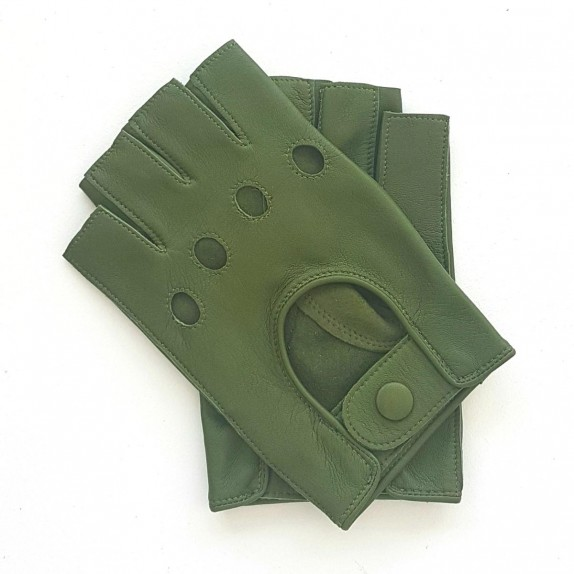 """Leather mittens of lamb clover """"PILOTE"""""""