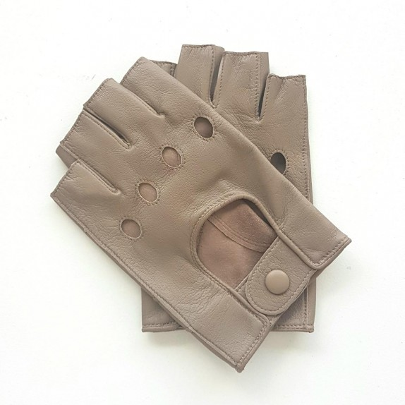 "Leather mittens of lamb putty ""PILOTE"""