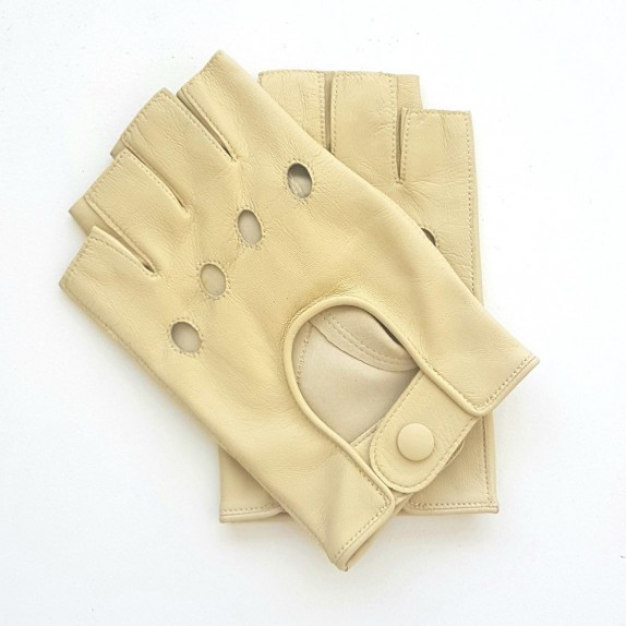 "Leather mittens of lamb otmeal""PILOTE""."
