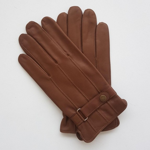 "Leather gloves of lamb biscuit ""ARTHUR"""