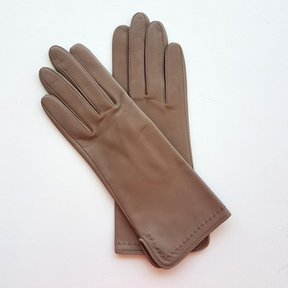 """Leather gloves of lamb putty """"VIOLETTE"""""""