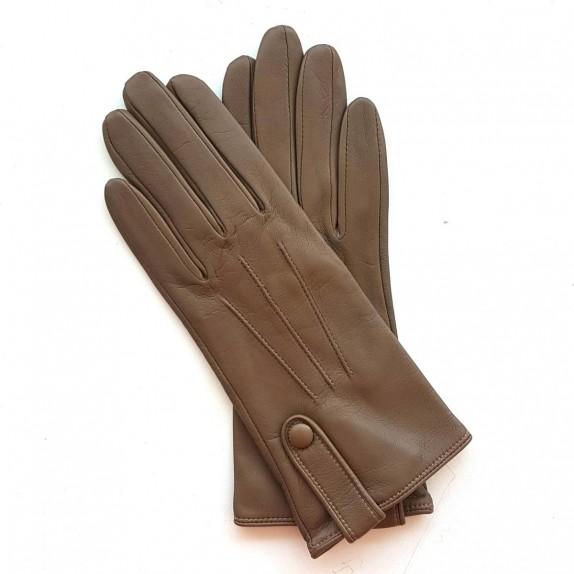 "Leather Gloves of lamb sand ""IRINA""."