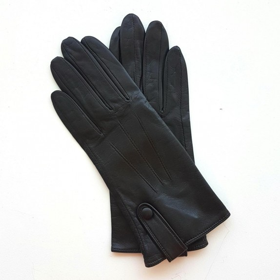 """Leather Gloves of lamb brown """"IRINA""""."""