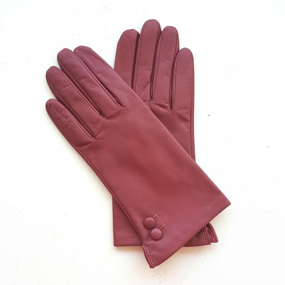 """Leather gloves of lamb rose antique """"CLEMENTINE"""""""