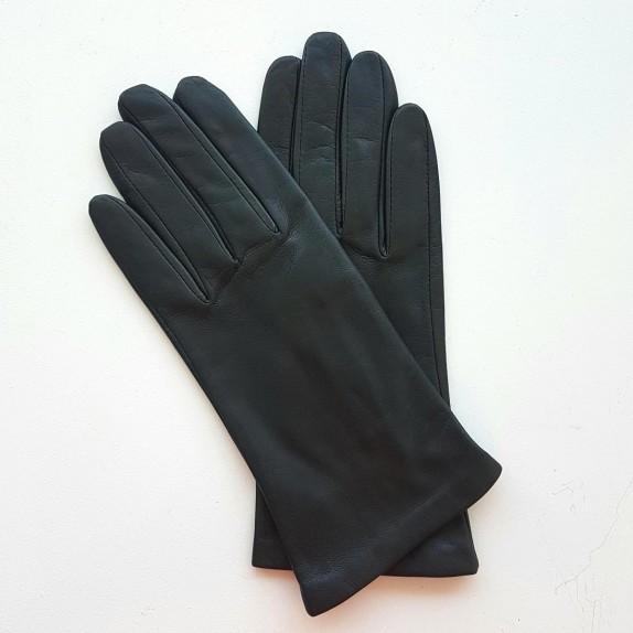 "Leather gloves of lamb grey ""CAPUCINE"""