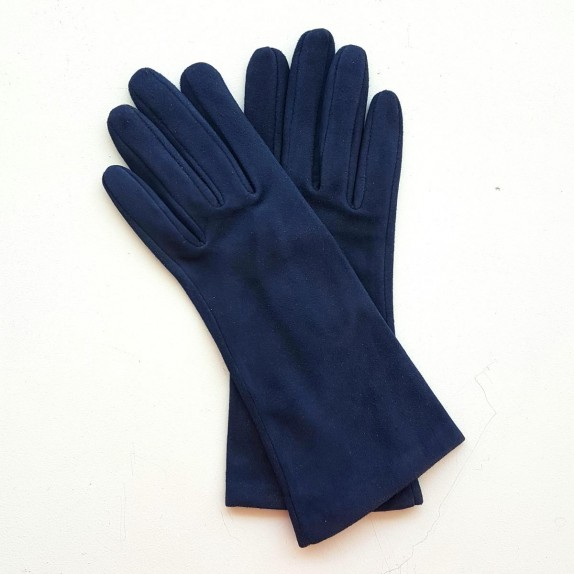 """Leather gloves of goat-skin suede night blue """"COLINE"""""""