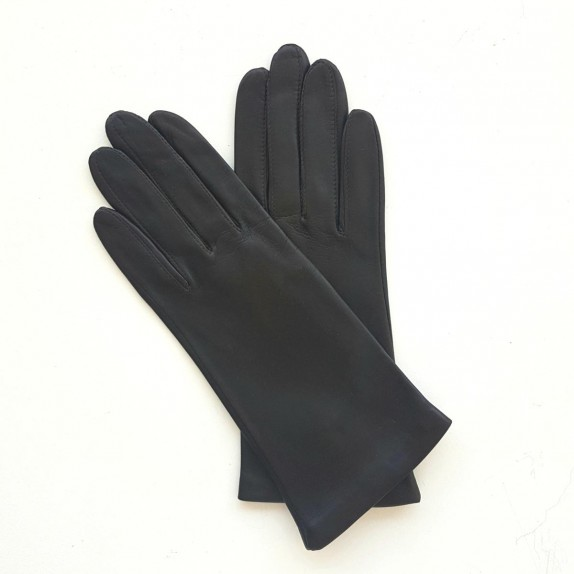 """Leather gloves of lamb brown """"ADELINE""""."""