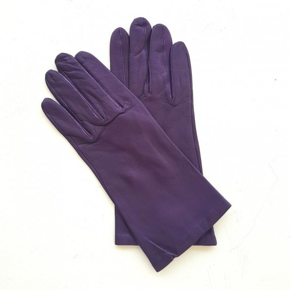 """Leather gloves of lamb amethyst """"ADELINE""""."""