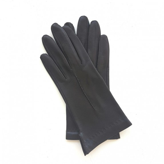 "Leather gloves of lamb brown ""THERESE""."