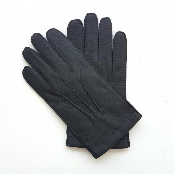 "Leather gloves of deer and lamb brown ""OSCAR BIS""."