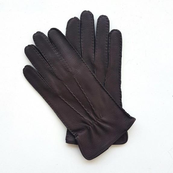 "Leather gloves of deer brown "" MARC """