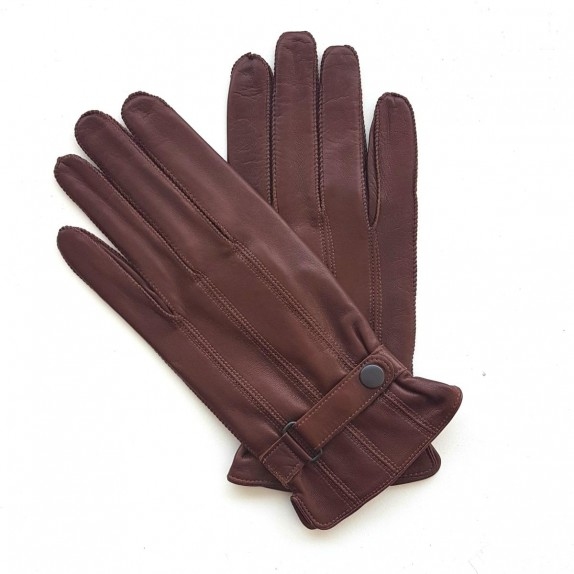 "Leather gloves of lamb cognac ""ARTHUR"""