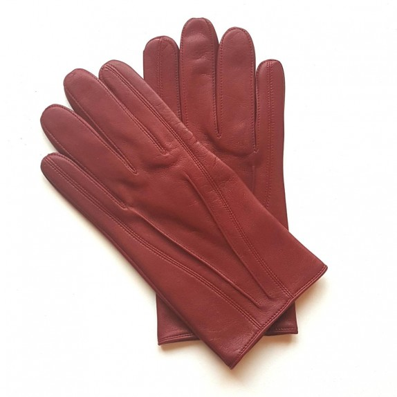 "Leather gloves of lamb hermes red ""STEEVE""."