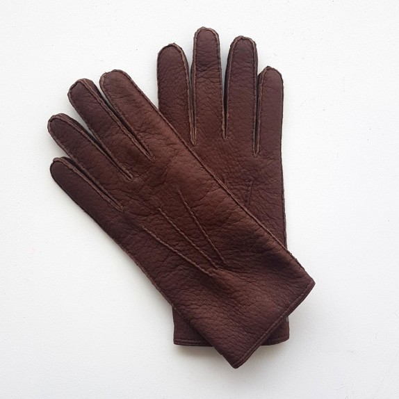 "Leather Gloves of peccary vison ""PAUL""."