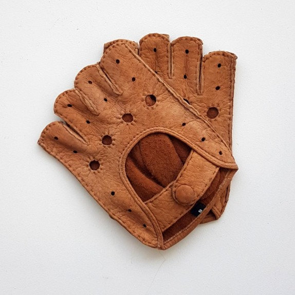 "Leather mittens of peccary cork ""MATHEO BIS""."