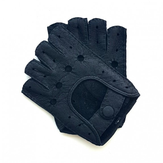 "Leather mittens of peccary black ""MATHEO BIS""."