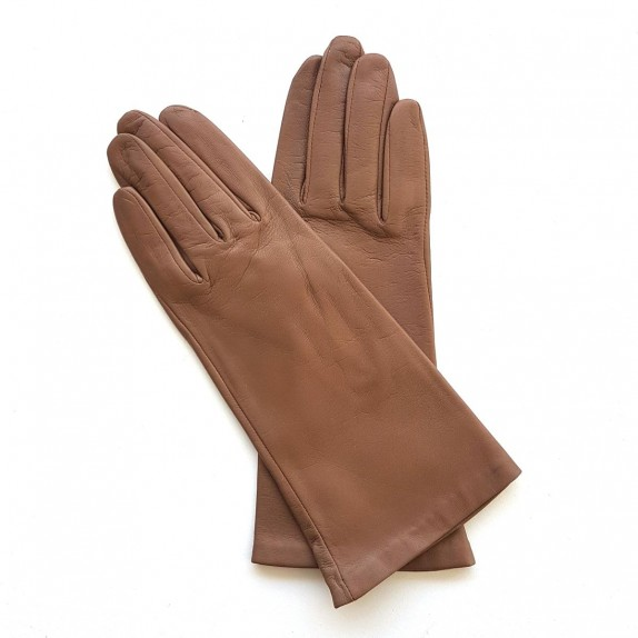"Leather gloves of lamb sand lining cashmere ""COLINE"""