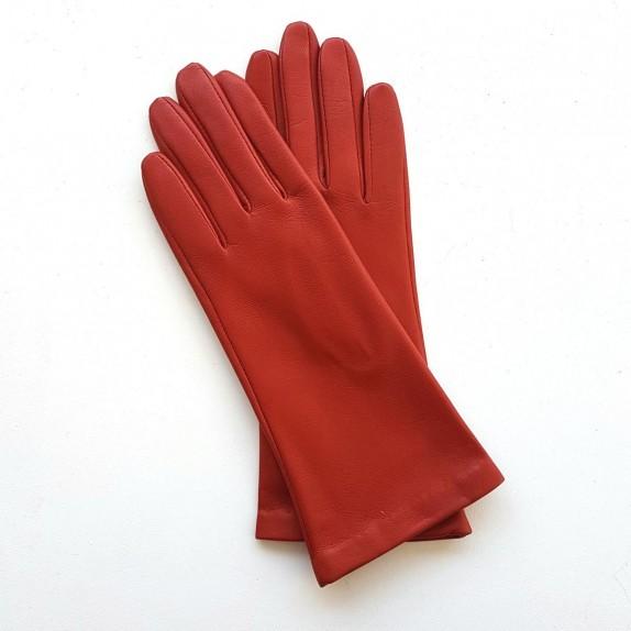 "Leather gloves of lamb orange ""COLINE"""