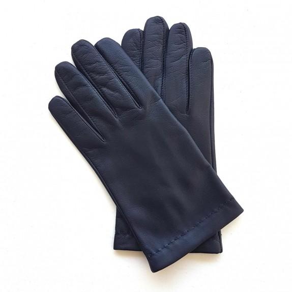 "Leather gloves in lamb damson ""RAPHAËL""."