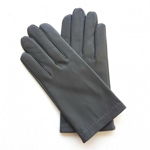 "Leather gloves of lamb grey ""RAPHAËL"""