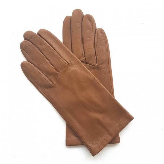 "Leather gloves of lamb biscuit ""CAPUCINE""."