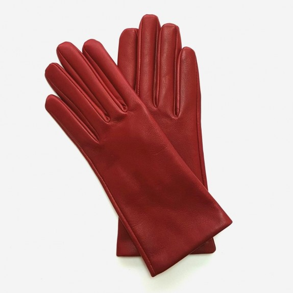 """Gants en cuir rouge hermès d'agneau """"CAPUCINE""""."""