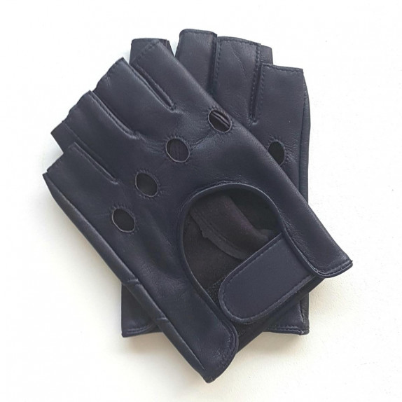 """Leather mittens of lamb damson """"PILOTE"""""""