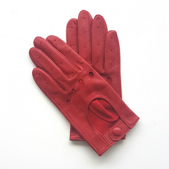 """Leather gloves of lamb red """"AUDREY""""."""